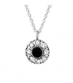 colier-din-argint-black-flower-onix-negru